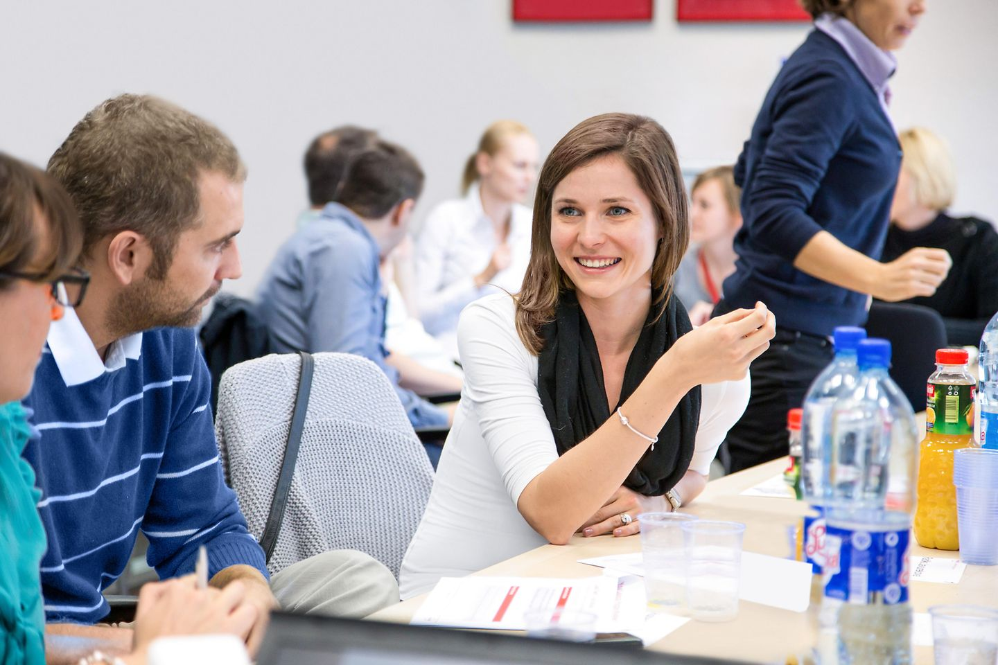 A female employee attending a workshop.